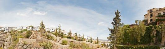 Photo panoramique avec Casa del Rey Moro. Images stock