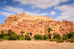 Photo panoramique d'Ait Benhaddou, Maroc Images stock