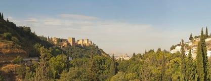 Photo panoramique d'Alhambra. Image libre de droits