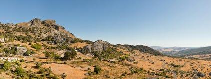 Photo panoramique d'horizontal de la sierra de Grazalema. Photo stock