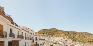 Photo panoramique d'horizontal de la sierra de Grazalema. Photos libres de droits