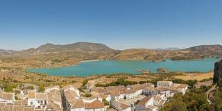 Photo panoramique d'horizontal de la sierra de Grazalema. Photographie stock