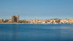Photo panoramique d'une petite ville de touristes en Espagne, Palamos, l Images stock