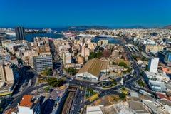 Photo panoramique de bourdon aérien de Le Pirée et du port célèbre en journée, Attique, Grèce photos libres de droits