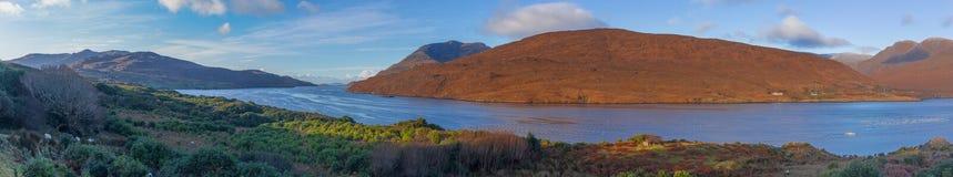 Photo panoramique de fjord irlandais Photographie stock libre de droits