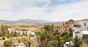 Photo panoramique de la ville espagnole Ronda. Photographie stock