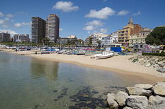 Photo panoramique de Palamos en Costa Brava, Catalogne, Espagne Images stock