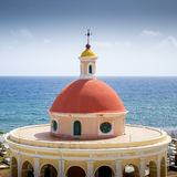 Photo panoramique de vieille rue de San Juan au Porto Rico photographie stock libre de droits
