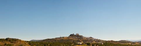 Photo panoramique des pueblos blancos Olvera. Photographie stock