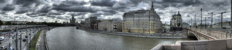 Photo panoramique du centre de Moscou image libre de droits