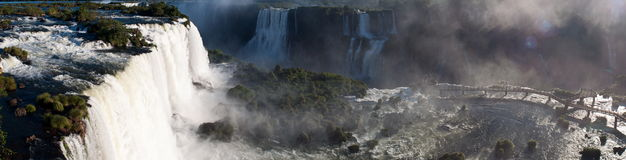 Photo panoramique les chutes d'Iguaçu Photos libres de droits