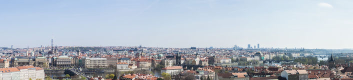 Photo panoramique : Prague photographie stock libre de droits