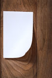 Photo paper attach wooden background Royalty Free Stock Photos