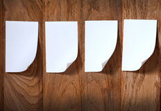 Photo paper attach wooden background Stock Image