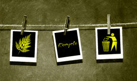 Photo paper attached to rope with pins royalty free illustration