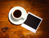 Photo paper with coffee Royalty Free Stock Photos