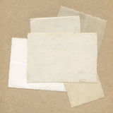 Photo paper textures on vintage paper background Royalty Free Stock Photography