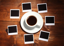 Photo papers with coffee Stock Photography