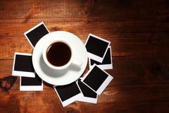 Photo papers with coffee Royalty Free Stock Image