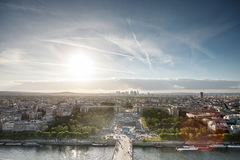 Photo of Paris. From the eiffel tower Stock Photography