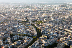 Photo of Paris. From the eiffel tower Royalty Free Stock Photo