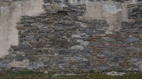 Photo of part stone wall. Photo of part stone wall Stock Photos