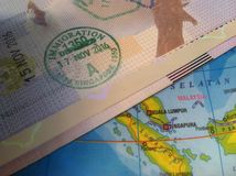 Passport and Map, Illustration for Vacation or Business Trip. Photo Passport and Map, Illustration for Vacation or Business Trip royalty free stock photos
