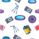 Photo pattern, cartoon style Stock Image