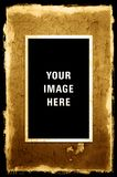 Photo on Peeling Textured Grunge Background Royalty Free Stock Photography