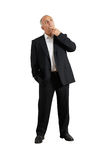 Photo of pensive man over white Royalty Free Stock Photo