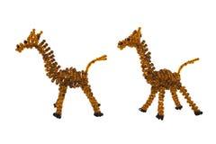 Photo perlée d'isolement de souvenir de girafe Photos libres de droits