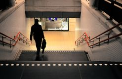 Photo Of Person Going Down The Stairs Stock Photography