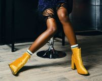 Photo of Person Wearing Yellow Boots Royalty Free Stock Photo