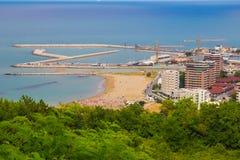 Photo of Pesaro city on the sea, marche Royalty Free Stock Photos