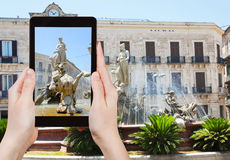 Photo of Piazza Archimede in Syracuse, Italy Stock Images