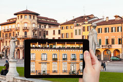 Photo of piazza Prato della Valle in Padua, Italy Stock Photos