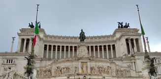 Piazza Venezia, Rome, Italy stock photography