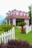 beautiful pink building picnic place royalty free stock photos