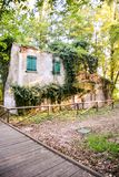 Abandoned House Exterior. Photo Picture of an Abandoned Old House Exterior Royalty Free Stock Photography