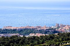 Aerial view of Menton town in French Riviera. Photo picture Aerial view of Menton town in French Riviera Stock Image