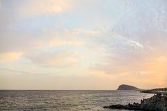 Ocean Coast's View in El Medano Tenerife South, Tenerife, Canary Islands Stock Photography