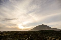 Volcan Basaltic Mountain Teide in Tenerife Canary Islands Spain Royalty Free Stock Photo