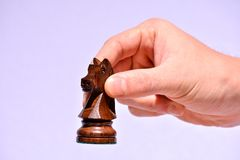 Wooden Chess Piece. Photo Picture of the Classic Wooden Chess Piece Royalty Free Stock Photos
