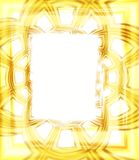 Photo Picture Frame in Gold. An abstract light yellow, white and gold texture photo frame border for other images Royalty Free Stock Image