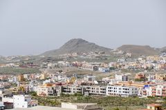 Photo Picture Image of colonial modern buildings in La Camella Los Cristianos Tenerife Canary Islands Spain Stock Image