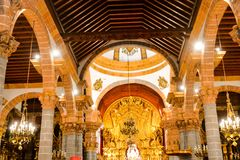 Small Church in Las Palmas Spain. Photo Picture of a Small Church Las Palmas in Spain Stock Photography