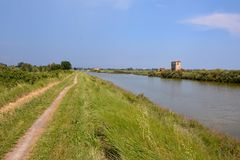 Landscape The Po Delta. Photo pictureLandscape of The Po Delta River in Italy Royalty Free Stock Images