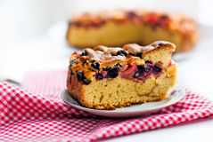 Photo of piece of cake with cherries Stock Photography