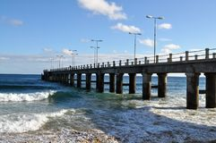 The pier - Porto Santo royalty free stock photo