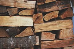 Photo of a Pile of Firewood stock photo